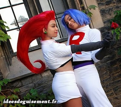 Déguisement de James et Jessie de la Team Rocket