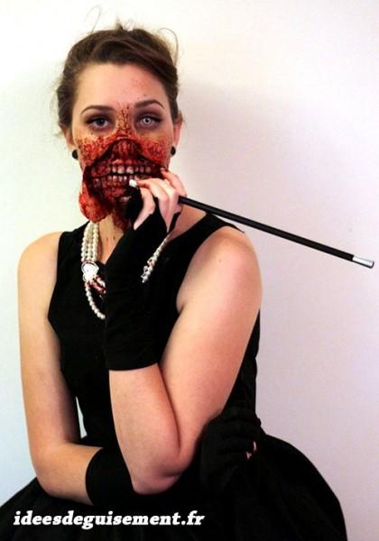 Costume de femmes des années 1920 en zombie