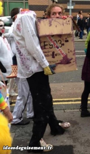 Déguisement illusion d'optique de zombie sans tête