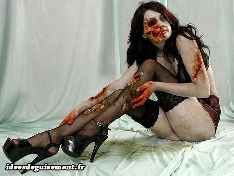 Costume de modèle sexy zombie