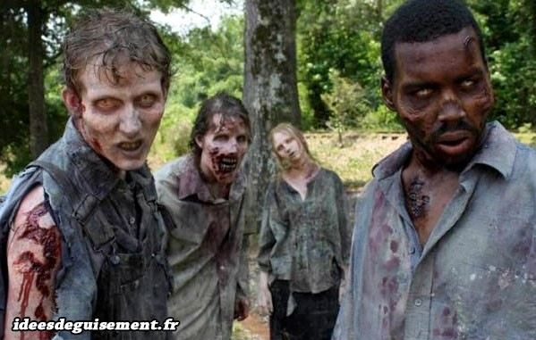 Costumes et maquillages de walkers de Walking Dead