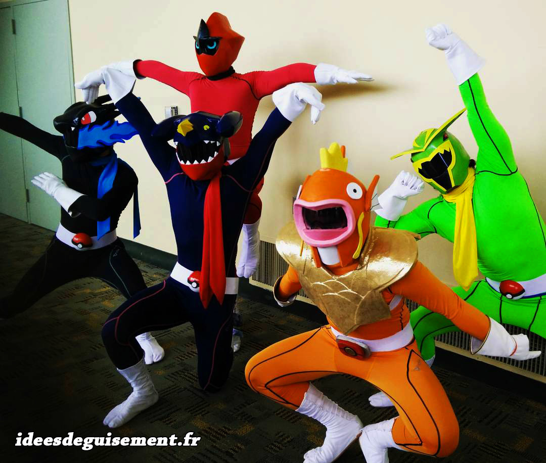 Déguisement mix de Power Rangers et Pokémon