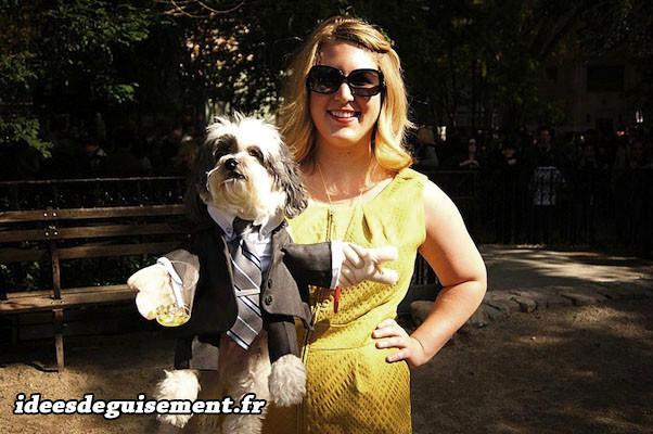 Déguisement chien en marionnette ventriloque
