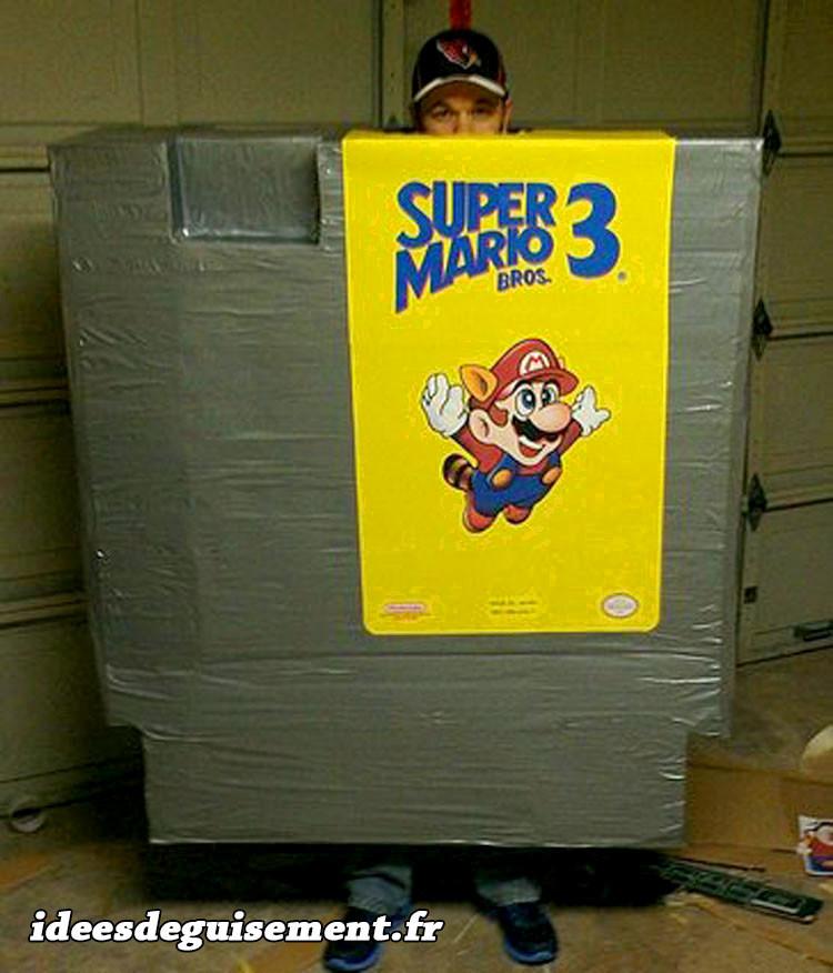 Déguisement de cartouche jaune Gameboy Mario