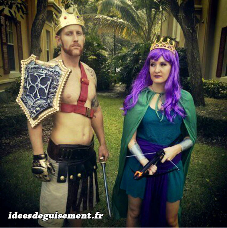 Déguisement en couple de Clash of Clans