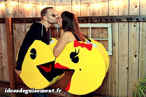 Déguisement en couple de Pac-man