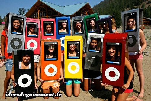Déguisement d'Ipod orange