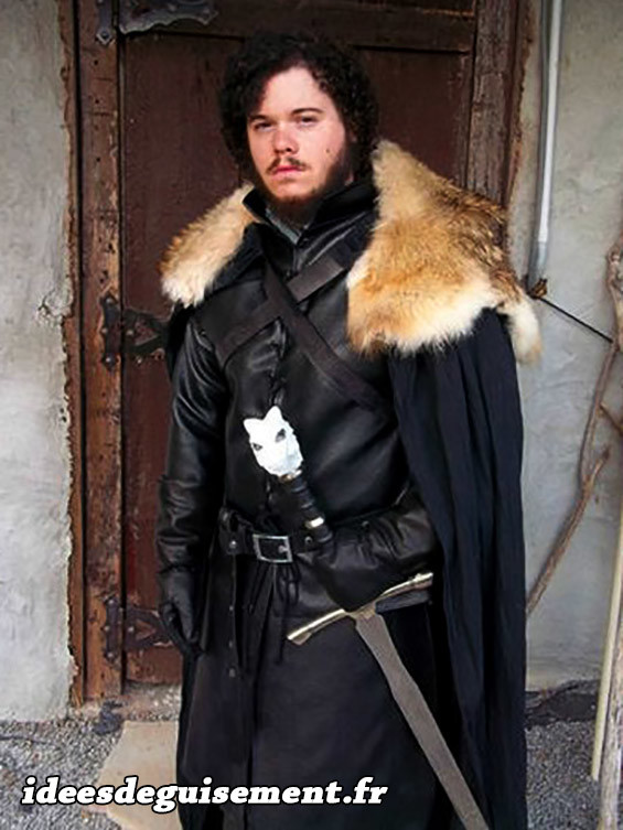 Déguisement réaliste de Jon Snow de la série Game of Thrones