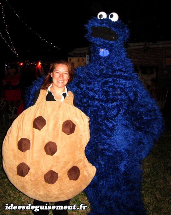Déguisement bleu Cookie Monster