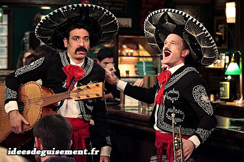 Déguisements de Ted et Barney en Mexicains de la série How I Met Your Mother