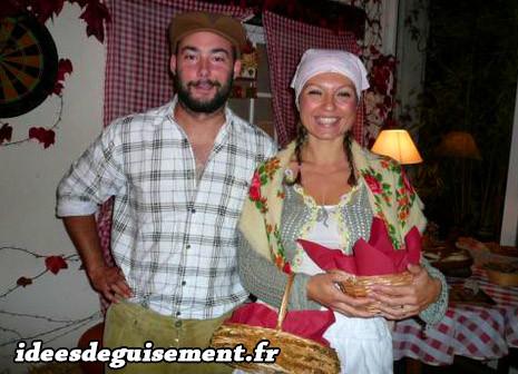 Déguisement de fermier et paysanne de la Renaissance