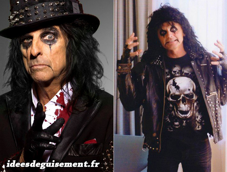 Costume et maquillage d'Alice Cooper