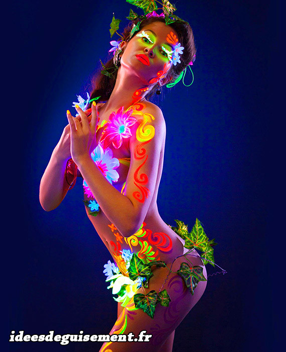 Body painting nature phospo et fluo