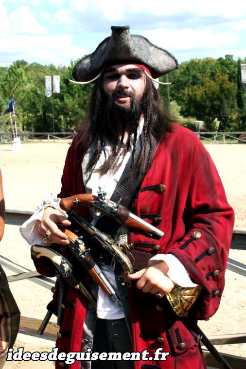 Déguisement de pirate capitaine de navire