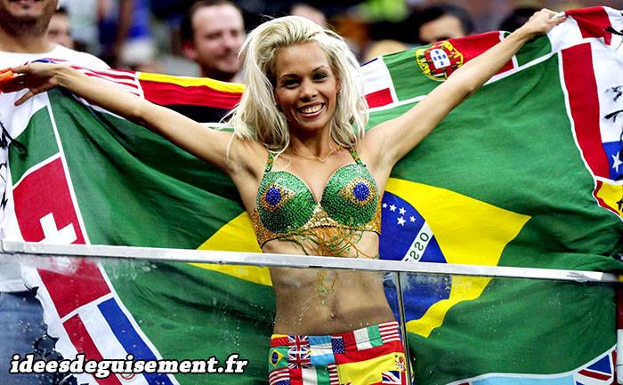 Supportrice Brésilienne sexy pour la Coupe du monde