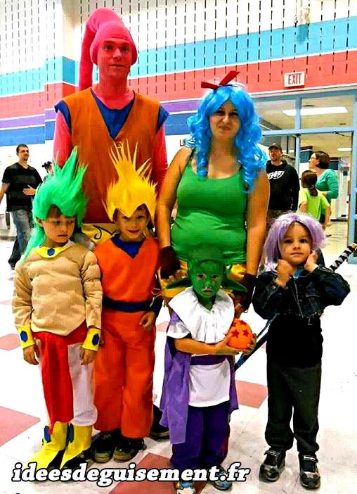 Déguisement familial des personnages de Dragon Ball Z
