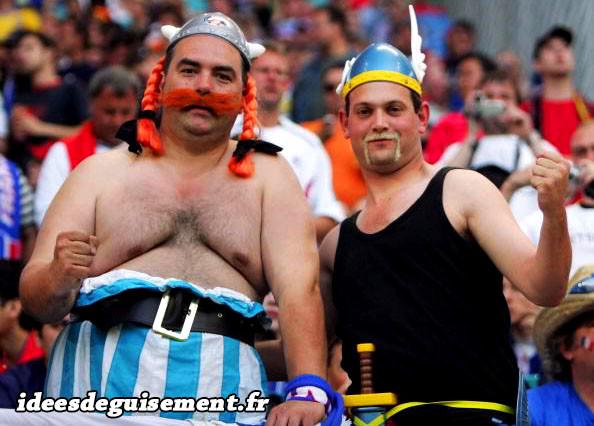 Costumes de supporters Français en Astérix et Obélix