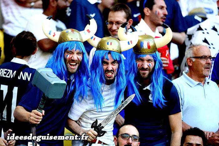 Déguisements de supporters Français pour la coupe du monde 2018