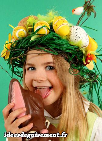 Costume d'œufs de Pâques