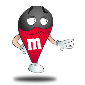 Costume de M&M's rouge