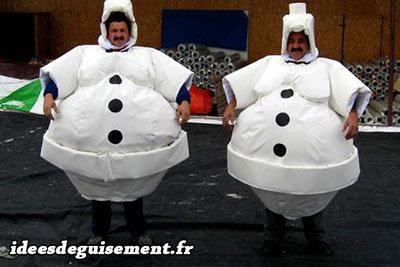 Déguisement de Bongommes de neiges pour Noël