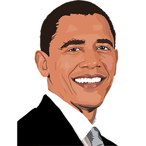 Dibujo de Barack Obama