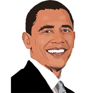 Barack Obama effet dessin animé