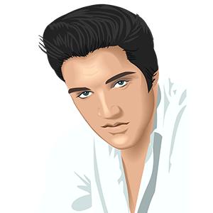 Dibujo de Elvis Presley