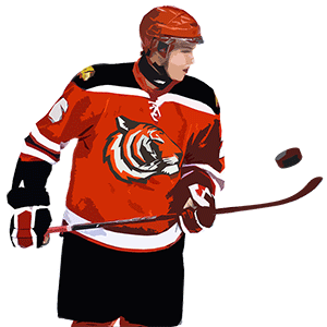 NHL hockey player cartoon effect